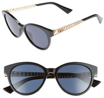 Women's Dior Diorama Mini 52Mm Mirrored Lens Special Fit Sunglasses - Black/ Gold/ Copper