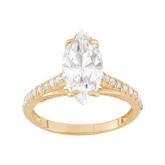 FINE JEWELRY Diamonart Womens 2 3/4 CT. T.W. Lab Created White Cubic Zirconia 10K Gold Engagement Ring