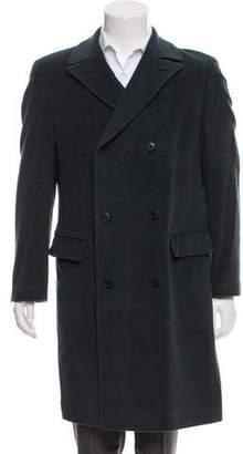HUGO BOSS Wool-Blend Double-Breasted Coat