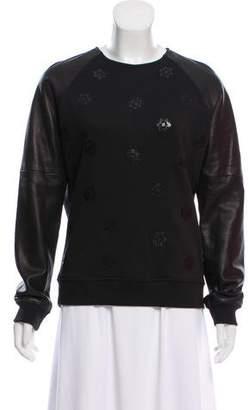 Rag & Bone Leather Appliqué Sweatshirt