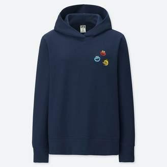 Uniqlo WOMEN KAWS X Sesame Street Hooded Sweatshirt