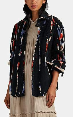 Raquel Allegra Women's Tie-Dyed Corduroy Workshirt