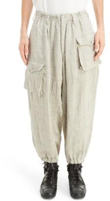 Men's Yohji Yamamoto Linen Cargo Pants $1,370 thestylecure.com