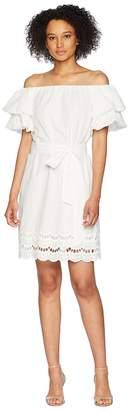 Bobeau B Collection by Diem Off Shoulder Eyelet Dress Women's Dress