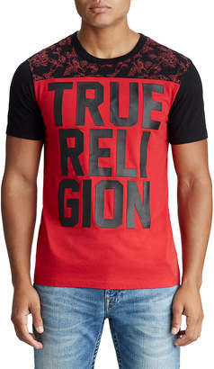 True Religion MENS FLORAL FOOTBALL TEE