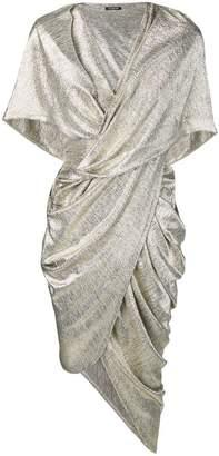 Balmain asymmetric draped dress