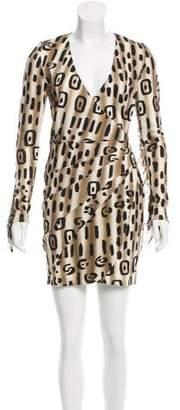 Blumarine Fringe-Accented Wool Dress