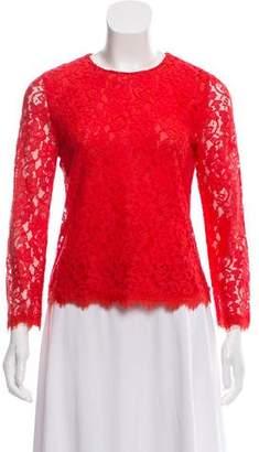 Diane von Furstenberg Long-Sleeve Lace Blouse