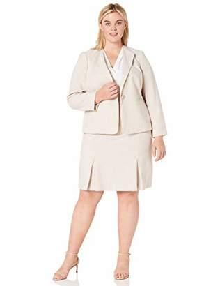 Le Suit Women's 1 Button Seamed Skirt Suit