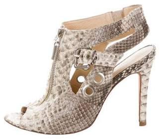 Alexandre Birman Python Cutout Sandals