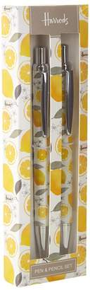 Harrods Lemon Pen and Pencil Set