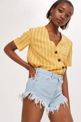 Topshop Bleach Fray Kiri Shorts