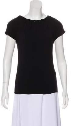 Armani Collezioni Short Sleeve Scoop Neck Top