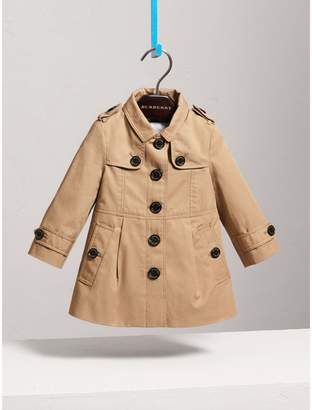 Burberry Cotton Single-breasted Trench Coat , Size: 3Y, Yellow