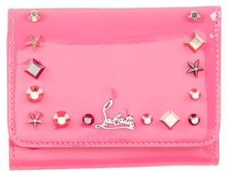 Christian Louboutin Patent Leather Studded Wallet