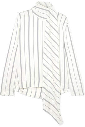Joseph Cannon Striped Satin Blouse - White
