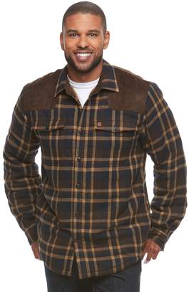 Coleman Men's Classic-Fit Flannel Sherpa-Lined Shirt Jacket