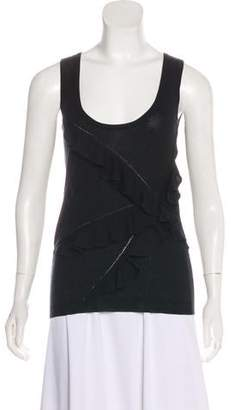 John Galliano Ruffle-Accented Sleeveless Top