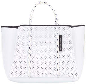 State of Escape Petit Escape Perforated Tote Bag, White