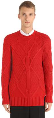 Neil Barrett Wool Long Knit Sweater