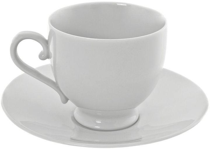 10 Strawberry Street Royal White Sophia 12-pc. Demi Cup & Saucer Set