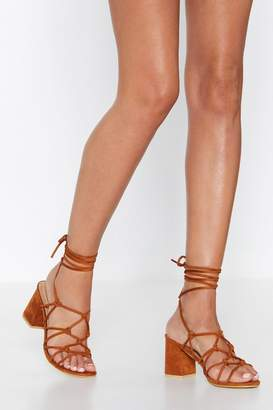 Nasty Gal Cage Out of Control Faux Suede Sandal