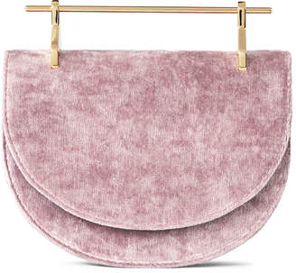 M2Malletier Mini Half-Moon Velvet Top Handle Bag