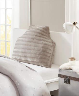 "Intelligent Design Duke 34"" x 26"" x 2"" Oversized Faux Fur Headboard Pillow"