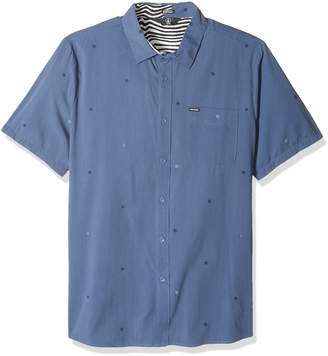 Volcom Men's Bleeker Short Sleeve Button Up Shirt
