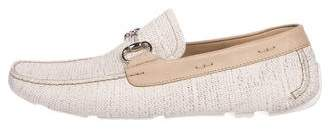 Magnanni Canvas Horsebit Loafers