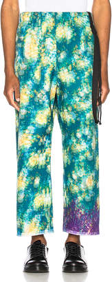 Craig Green Vibrating Floral Line Stitch Trousers in Green   FWRD