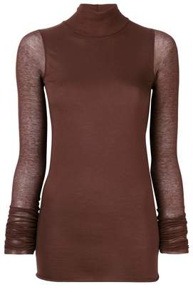 Rick Owens Lilies sheer sleeved top