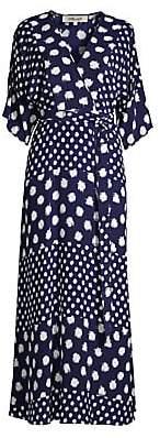 Diane von Furstenberg Women's Eloise Abstract Silk Wrap Maxi Dress