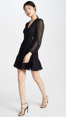 Jill Stuart Ruched V Neck Dress