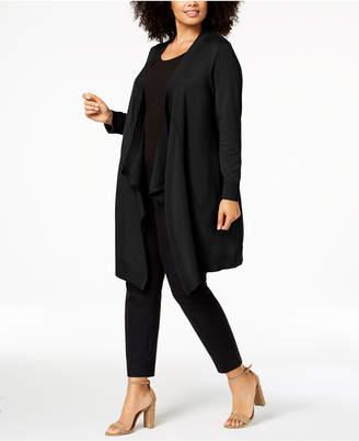 Love Scarlett Plus Size Draped Long Cardigan