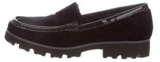 Donald J Pliner Velvet Round-Toe Loafers