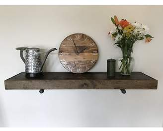 Gracie Oaks Whitestone Rustic Industrial Wall Shelf