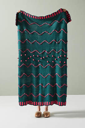 Anthropologie Happy Holly Throw Blanket