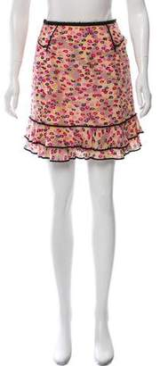 Marc Jacobs Silk Floral Mini Skirt
