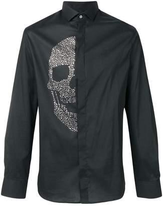 Philipp Plein embellished skull shirt