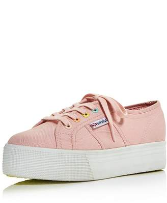 Superga Women's Coloreycotw Multicolor Eyelet Lace Up Platform Sneakers - 100% Exclusive
