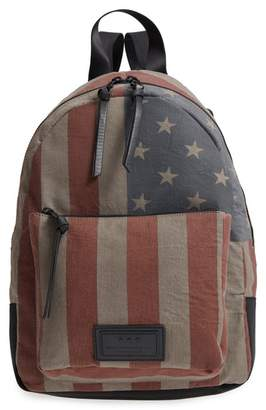 John Varvatos Gibson Flag Print Backpack