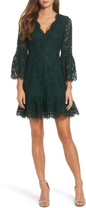 Eliza J Bell Sleeve Lace Cocktail Dress