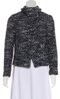 Rebecca Taylor Knit Collared Jacket