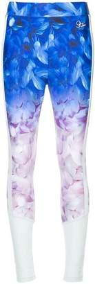 Puma X Sophia Webster ombré floral-print mesh leggings