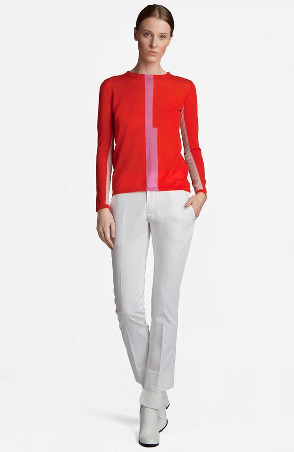 Jil Sander Contrast Stripe Sweater