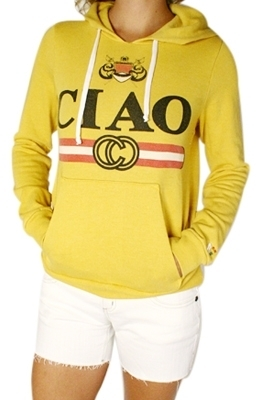 Rebel Yell - Women's Gold CIAO Pullover Hoodie