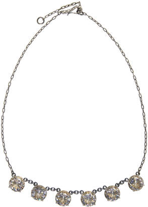 Bottega Veneta Silver and Yellow Cubic Zirconia Necklace