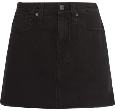 Madewell - Frayed Denim Mini Skirt - Black