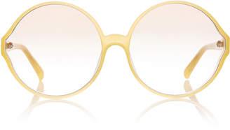 Linda Farrow Titanium Acetate Round Sunglasses